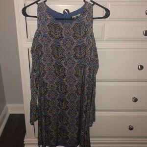 Patterned blue dress - worn once